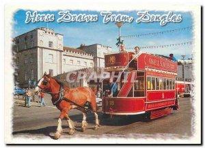 Modern Postcard Horse Drawn Tram Douglas Isle of Man