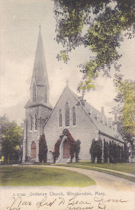 WINCHENDON, Massachusetts; Unitarian Church, PU-1913