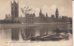 United Kingdom, London, The Houses of Parliament, 1911 used Postcard