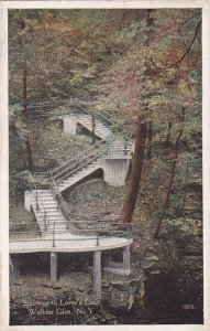 New York Watkins Glen Stairway To Lovers Lane 1920