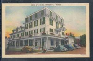 Virginia postcard Hotel Strasburg unused