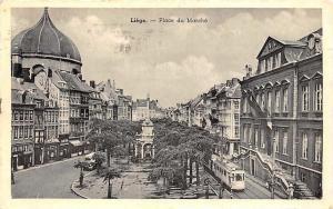 Belgium Liege Place du Marche Square Tram Street