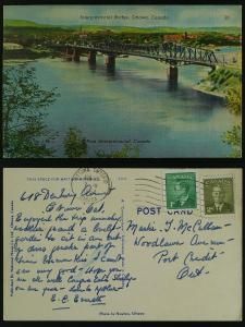 Interprovincial Bridge -Ottawa  GeoVI 1952