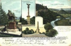 Rudelsburg Germany, Deutschland Postcard Gruss von der Rudelsburg Gruss von der