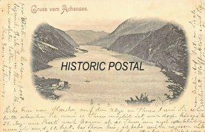 ACHENSEE TIROL AUSTRIA~TOTALANSICHT~1899 PHOTO POSTCARD