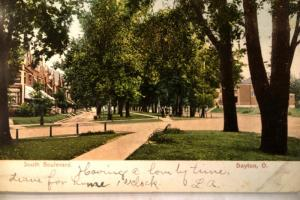 1906 South Boulevard Street In Dayton Ohio OH Postcard v0774
