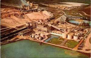 Postcard Phosphate Mining in Central Florida Lakeland Chrome Unposted 1551