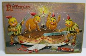Halloween Postcard Tucks Original #150 Goblin Gord Monsters Non Posted Vintage