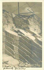 Mining Granite Quarry Industry 1930s RPPC Photo Postcard 21-7273