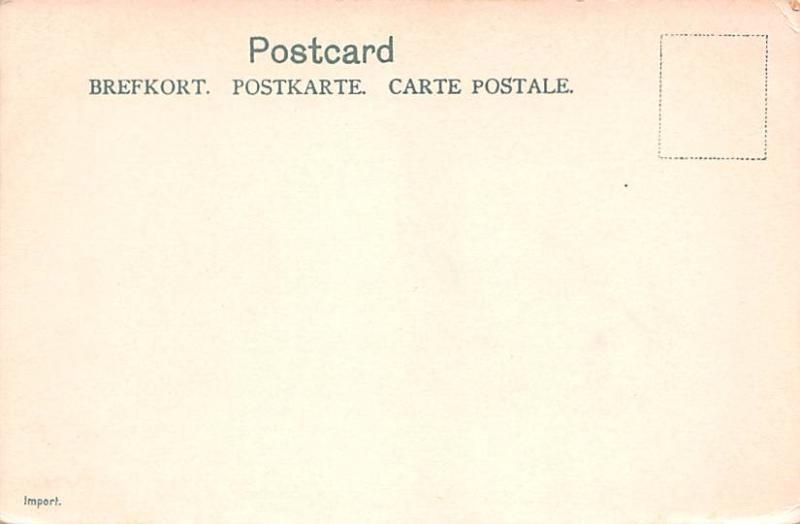 Sweden Old Vintage Antique Post Card Park City of Malmo Unused