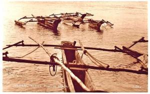 Zanzibar Native Fishing Boats Real Photo Postcard