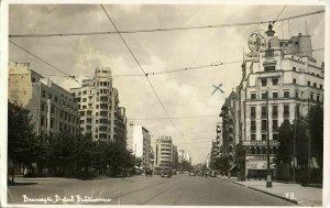 romania, BUCHAREST BUCURESTI, Bulevardul Ion C. Brătianu (1937) RPPC Postcard