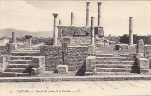 Tunisia Ruines Romaines de Timgad Temple du genie de la Colonie