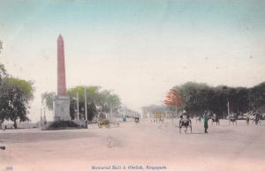 Memorial Hall & Obelisk Singapore Old Postcard