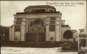 1925 Paris Expo des Arts Decoratifs Real Photo Postcard PAVILLON DE BON MARCHE