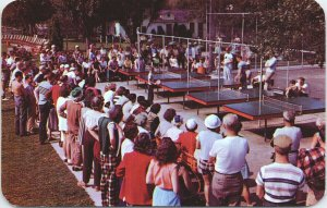 Ping Pong Tournament Sugar Maples Maplecrest In The Catskills NY Postcard F17