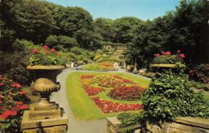 Vintage 1974 Postcard, Scarborough, The Italian Gardens, Flowers, Plants 10T