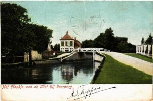 CPA Het Plankje aan de Vliet bij VOORBURG NETHERLANDS (602184)