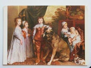 Children of Charles 1 by Sir Anthony Van Dyke Vintage Chrome Postcard
