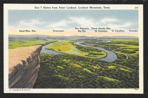 Lookout Mountain Point See 7 States Tennessee Unused c1930s
