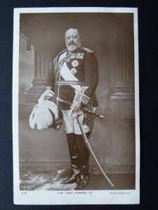 Royalty Portrait H.M. KING EDWARD Vll c1908 RP Postcard by Chancellor & Son