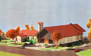 CO - Colorado Springs. Model of Immanuel Lutheran Church Showing Addition