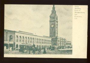 San Francisco, California/CA Postcard, Ferry Building, Foot Of Market Street