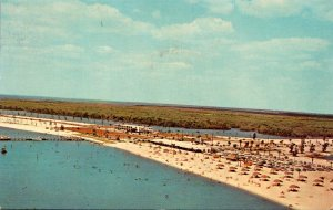 Florida Ruskin Aerial View Of Bahia Beach Showing Bahia Vista Restaurant & Ba...