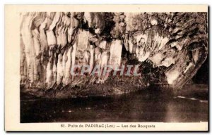 Old Postcard Well of Padirac Lac Des Bouquets