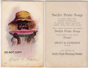 Black Americana - Swift's Pride Soap, Signed Cockrell