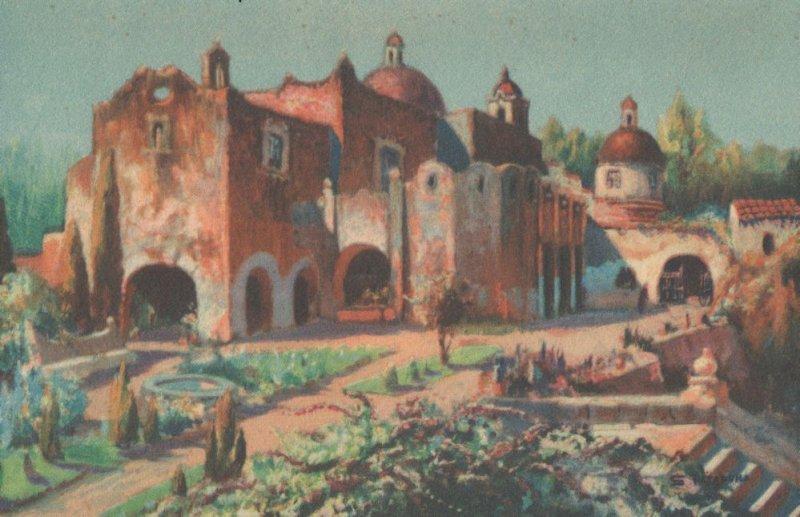 Oleo De Salvador Tarazona Marias Convent Mexico Painting Postcard