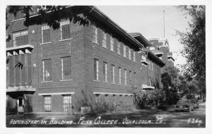 Oskaloosa Iowa Penn College Admin Bldg Real Photo Antique Postcard K104046