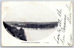 Parkersburg West Virginia~Blennerhassett Island Vignette~1905 B&W WI Boreman PC
