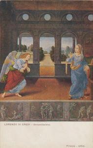 Angel Lorenzo Di Credi Annunciazione Museo Uffizi Firenze