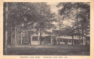 Mountain Lake Park Maryland~Mt Lake Hotel in Trees~1920s Albertype Postcard
