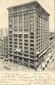 Chicago, Ill., Marquette Building (1905) Sent by Frank Nicholas Meyer READ !!