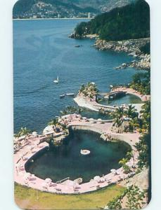 Unused Pre-1980 VIEW FROM BEACH HOTEL Acapulco Mexico F6273-12