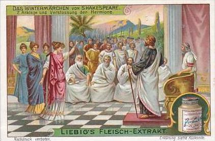 Liebig Vintage Trade Card S1101 Shakespeares Winter Tale 1914 No 2