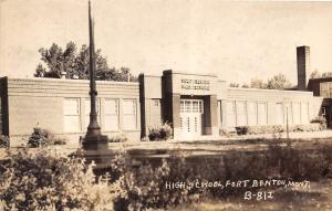 D56/ Fort Benton Montana Mt Real Photo RPPC Postcard c1920 High School Building