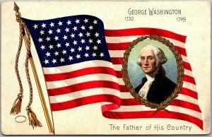 Washington's Birthday Embossed Postcard Father of His Country 1909 Cancel