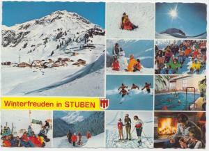 Winterfreuden in STUBEN, Austria, used Postcard