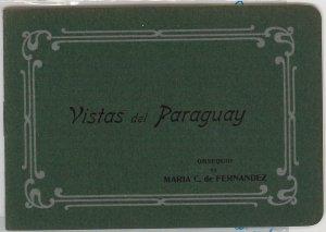 PARAGUAY -  Vintage Postcard - ADVERTISING BOOKLET with VIEWS - Ñandutí LACE #3