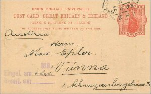 Entier Postal Stationery 1p for Vienna 1893