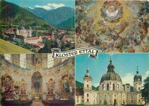 Postcard Germany Kloster Ettal multi view church monastery