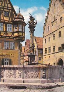 St George Fountain Rothenburg od der Tauber, Germany pm 1984