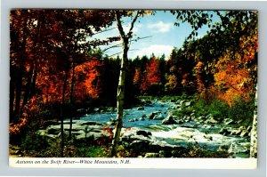 White Mountains NH- New Hampshire, Autumn on Swift River, Chrome c1971 Postcard