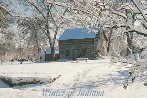 Indiana South Bend Pierre Navarre Cabin Winter Scene