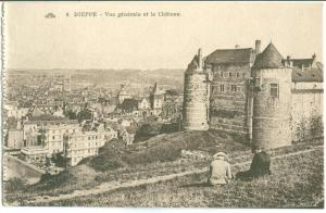 France, DIEPPE, Vue generale et la Chateau, early 1900s unused Postcard CPA
