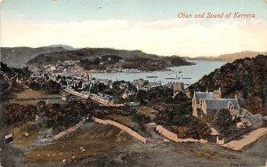 Oban and Sound of Kerrera Scotland, UK Writing on back