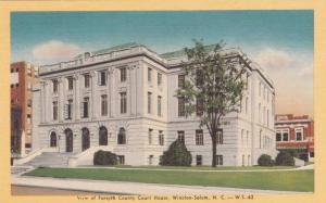 North Carolina Wintston Salem View Of Forsyth County Court House